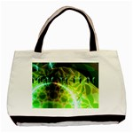Dawn Of Time, Abstract Lime & Gold Emerge Twin-sided Black Tote Bag