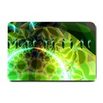 Dawn Of Time, Abstract Lime & Gold Emerge Small Door Mat