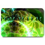 Dawn Of Time, Abstract Lime & Gold Emerge Large Door Mat