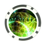 Dawn Of Time, Abstract Lime & Gold Emerge Poker Chip