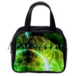 Dawn Of Time, Abstract Lime & Gold Emerge Classic Handbag (One Side)