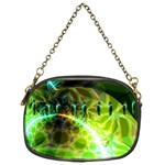 Dawn Of Time, Abstract Lime & Gold Emerge Chain Purse (One Side)