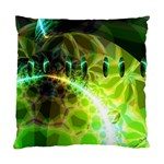 Dawn Of Time, Abstract Lime & Gold Emerge Cushion Case (Single Sided)