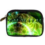 Dawn Of Time, Abstract Lime & Gold Emerge Digital Camera Leather Case