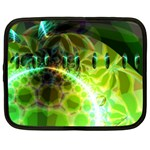 Dawn Of Time, Abstract Lime & Gold Emerge Netbook Sleeve (XL)