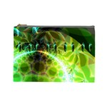 Dawn Of Time, Abstract Lime & Gold Emerge Cosmetic Bag (Large)