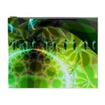 Dawn Of Time, Abstract Lime & Gold Emerge Cosmetic Bag (XL)