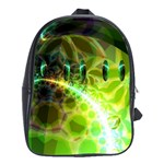 Dawn Of Time, Abstract Lime & Gold Emerge School Bag (Large)