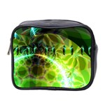 Dawn Of Time, Abstract Lime & Gold Emerge Mini Travel Toiletry Bag (Two Sides)