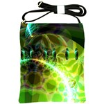 Dawn Of Time, Abstract Lime & Gold Emerge Shoulder Sling Bag