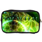 Dawn Of Time, Abstract Lime & Gold Emerge Travel Toiletry Bag (Two Sides)