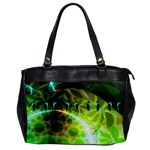 Dawn Of Time, Abstract Lime & Gold Emerge Oversize Office Handbag (One Side)