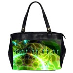 Dawn Of Time, Abstract Lime & Gold Emerge Oversize Office Handbag (Two Sides)