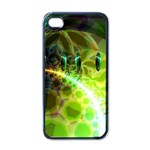 Dawn Of Time, Abstract Lime & Gold Emerge Apple iPhone 4 Case (Black)