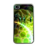 Dawn Of Time, Abstract Lime & Gold Emerge Apple iPhone 4 Case (Clear)