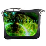 Dawn Of Time, Abstract Lime & Gold Emerge Messenger Bag