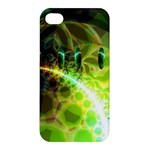 Dawn Of Time, Abstract Lime & Gold Emerge Apple iPhone 4/4S Premium Hardshell Case