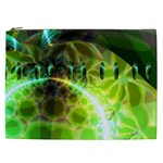 Dawn Of Time, Abstract Lime & Gold Emerge Cosmetic Bag (XXL)