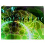 Dawn Of Time, Abstract Lime & Gold Emerge Cosmetic Bag (XXXL)