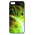 Dawn Of Time, Abstract Lime & Gold Emerge Apple iPhone 5 Seamless Case (Black)