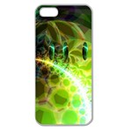 Dawn Of Time, Abstract Lime & Gold Emerge Apple Seamless iPhone 5 Case (Clear)