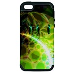 Dawn Of Time, Abstract Lime & Gold Emerge Apple iPhone 5 Hardshell Case (PC+Silicone)