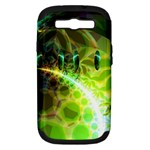 Dawn Of Time, Abstract Lime & Gold Emerge Samsung Galaxy S III Hardshell Case (PC+Silicone)