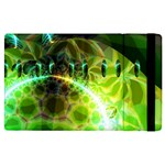 Dawn Of Time, Abstract Lime & Gold Emerge Apple iPad 3/4 Flip Case