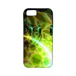Dawn Of Time, Abstract Lime & Gold Emerge Apple iPhone 5 Classic Hardshell Case (PC+Silicone)