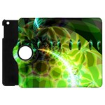Dawn Of Time, Abstract Lime & Gold Emerge Apple iPad Mini Flip 360 Case