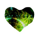 Dawn Of Time, Abstract Lime & Gold Emerge 16  Premium Heart Shape Cushion