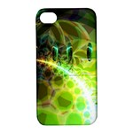 Dawn Of Time, Abstract Lime & Gold Emerge Apple iPhone 4/4S Hardshell Case with Stand