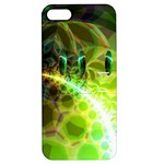 Dawn Of Time, Abstract Lime & Gold Emerge Apple iPhone 5 Hardshell Case with Stand