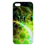 Dawn Of Time, Abstract Lime & Gold Emerge Apple iPhone 5 Premium Hardshell Case