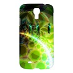 Dawn Of Time, Abstract Lime & Gold Emerge Samsung Galaxy S4 I9500/I9505 Hardshell Case