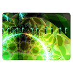 Dawn Of Time, Abstract Lime & Gold Emerge Samsung Galaxy Tab 8.9  P7300 Flip Case