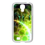 Dawn Of Time, Abstract Lime & Gold Emerge Samsung GALAXY S4 I9500/ I9505 Case (White)