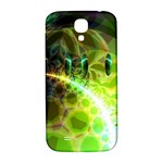 Dawn Of Time, Abstract Lime & Gold Emerge Samsung Galaxy S4 I9500/I9505  Hardshell Back Case