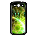 Dawn Of Time, Abstract Lime & Gold Emerge Samsung Galaxy S3 Back Case (Black)