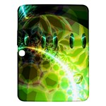 Dawn Of Time, Abstract Lime & Gold Emerge Samsung Galaxy Tab 3 (10.1 ) P5200 Hardshell Case