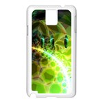 Dawn Of Time, Abstract Lime & Gold Emerge Samsung Galaxy Note 3 N9005 Case (White)