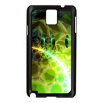Dawn Of Time, Abstract Lime & Gold Emerge Samsung Galaxy Note 3 N9005 Case (Black)