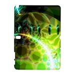 Dawn Of Time, Abstract Lime & Gold Emerge Samsung Galaxy Note 10.1 (P600) Hardshell Case