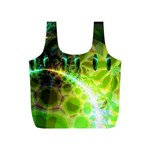 Dawn Of Time, Abstract Lime & Gold Emerge Reusable Bag (S)