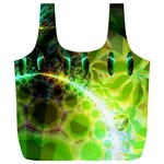 Dawn Of Time, Abstract Lime & Gold Emerge Reusable Bag (XL)