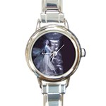 Dark Faery and Night Waterfall Round Italian Charm Watch