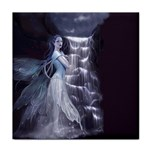 Dark Faery and Night Waterfall Tile Coaster