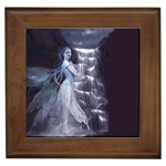 Dark Faery and Night Waterfall Framed Tile