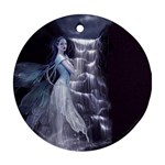 Dark Faery and Night Waterfall Ornament (Round)