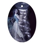 Dark Faery and Night Waterfall Ornament (Oval)